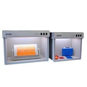 Colour comparison, metamerism, 5 types of light. Color Matching cabinets