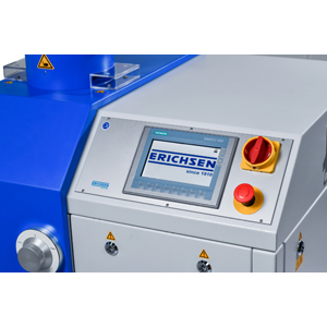 Universal sheet metal testing machine, with Erichsen cupping and deep-draw testing